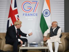 Boris Johnson and Indian prime minister Narendra Modi have agreed a new framework for future co-operation (Stefan Rousseau/PA)