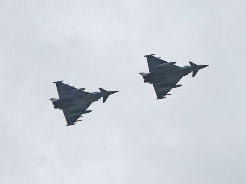 Two RAF Typhoons (Niall Carson/PA)