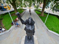 A Surge of Power (Jen Reid) 2020, by prominent British sculptor Marc Quinn (Ben Birchall/PA)