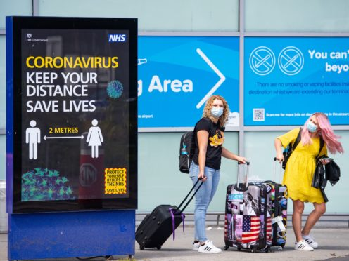 Holidaymakers from England will only be able to travel to a limited number of green list countries from May 17 (Jacob King/PA)
