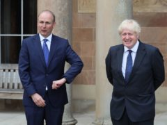 Micheal Martin and Boris Johnson (Brian Lawless/PA)