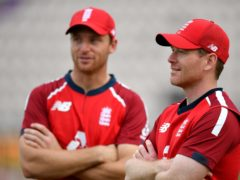 Jos Buttler (left) and Eoin Morgan are among the 11 England players still involved in the IPL (Dan Mullan/PA)