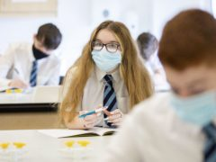 S4 pupils at St Columba's High School in Gourock, Inverclyde (Jane Barlow/PA)