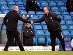 Marcelo Bielsa, right, has lauded the work of Burnley boss Sean Dyche, left (Nigel French/PA)
