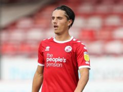 Crawley's Tom Nichols is suspended following his red card against Newport (Kieran Cleeves/PA)