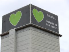 A total of 72 people died in the Grenfell Tower fire (Jonathan Brady/PA)