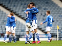 St Johnstone's Callum Booth (right) is going for his second winner's medal of the season on Saturday (Andrew Milligan/PA)