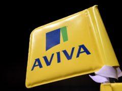 An Aviva branded flag (Andrew Matthews/PA)