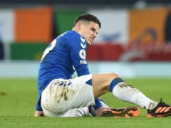 Everton playmaker James Rodriguez is a doubt for the visit of Sheffield United (Oli Scarff/PA)