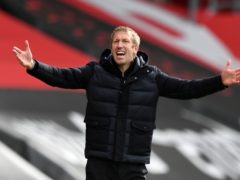 Graham Potter has been linked to the vacant manager's job at Tottenham (Glyn Kirk/PA)