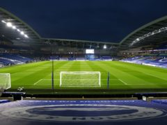 A crowd of just under 8,000 Brighton fans are set to be attendance at Tuesday's clash with Manchester City at the Amex Stadium (Clive Rose/PA).