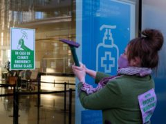 Climate change Protesters targeted Barclays' Canary Wharf offices last month (Joao Daniel Pereira/PA)