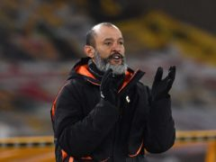 Nuno Espirito Santo said his Wolves side have improved this season regardless of their position in the table (Paul Ellis/PA)