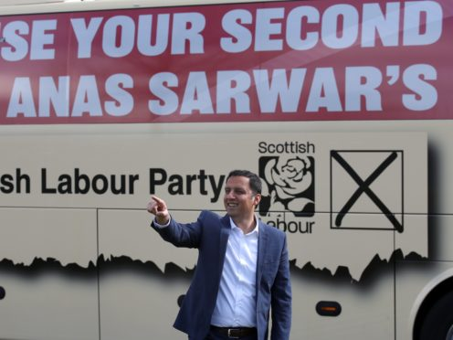 Scottish Labour leader Anas Sarwar is aiming to overtake the Tories as Holyrood's second-largest party at the election (Andrew Milligan/PA)