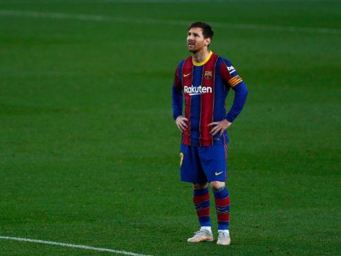 Lionel Messi steered Barcelona to victory (Joan Monfort/AP)