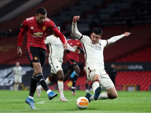 Manchester United are on the brink of the Europa League final following their first leg thrashing of Roma (Martin Rickett/PA)