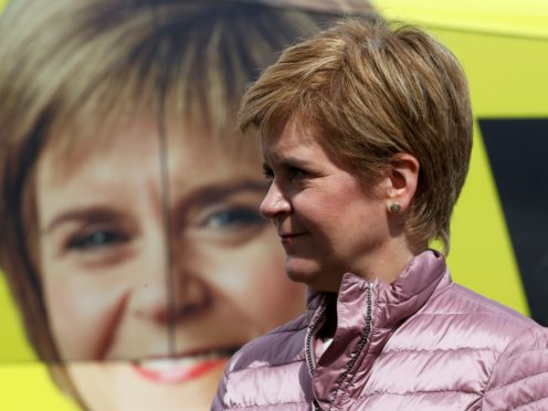 Nicola Sturgeon's SNP could still win a majority in Thursday's Holyrood election, pollsters said (Russell Cheyne/PA)