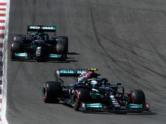 Valtteri Bottas will start the Portuguese GP ahead of Lewis Hamilton (Manu Fernandez/AP)
