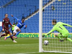 Danny Welbeck scores for Brighton (Mike Hewitt/PA)