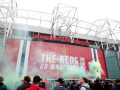 Fans protest at Old Trafford (Barrington Coombs/PA)