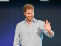 The Duke of Sussex speaks at Vax Live (Jordan Strauss/Invision/AP)
