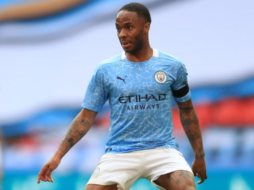 Raheem Sterling was on target but it was not enough for Manchester City to clinch the title (Adam Davy/PA)