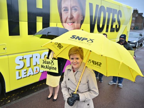 Nicola Sturgeon campaigns in the Midsteeple Quarter (Jeff Mitchell/PA)