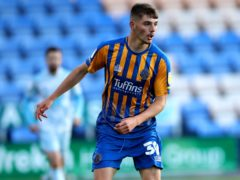Tom Bloxham spurned a good chance for Shrewsbury (Nick Potts/PA)