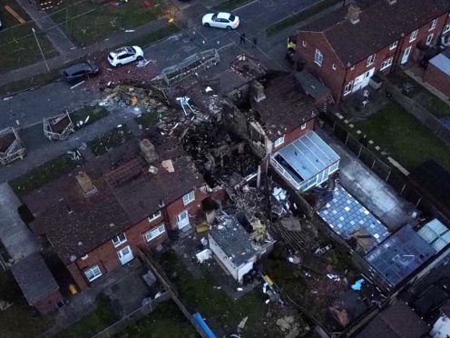 The scene of the explosion in Mill View in Willesborough, near Ashford, Kent (Gareth Fuller/PA)