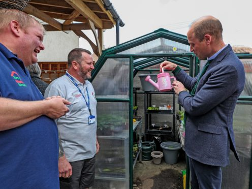 The Duke of Cambridge during his visit to Brighter Futures in Rhyl, Denbighshire (Peter Byrne/PA)