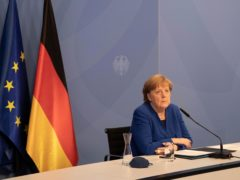 German Chancellor Angela Merkel opposes the US plan to waive patents (Filip Singer/Pool via AP)