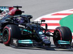 Lewis Hamilton finished fastest in second practice (Emilio Morenatti/AP)