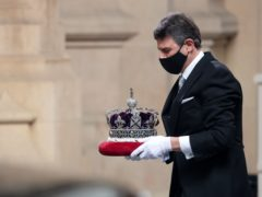 The Imperial State Crown is taken to the Palace of Westminster in London for the 2021 State Opening (Hannah McKay)