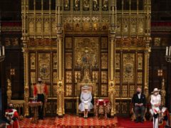 The Queen on the solitary throne (Chris Jackson/PA)