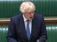 Prime Minister Boris Johnson speaking about the Covid-19 pandemic in the House of Commons (House of Commons/PA)