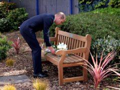 The Duke of Cambridge lays a wreath in memory of Sergeant Matt Ratana (Jonathan Buckmaster/Daily Express/PA)