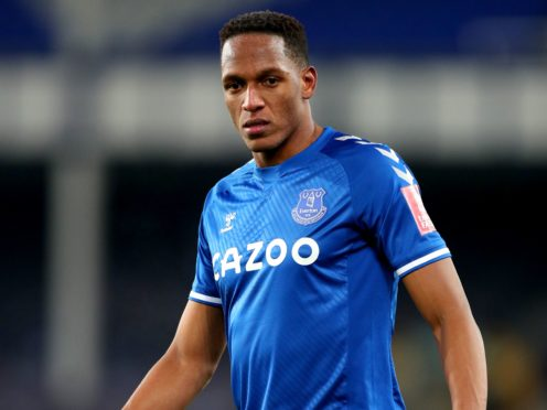 Yerry Mina has been sidelined by an adductor problem (Peter Byrne/PA).