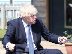 Boris Johnson was speaking at a primary school in Ferryhill, County Durham (Scott Heppell/PA)