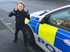 Jordan Banks who died after being struck by lightning in Blackpool on Tuesday, left sweets and chocolates on police cars to cheer up officers in January (Lancashire Constabulary/PA)