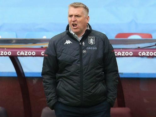 Aston Villa manager Dean Smith has seen progress in his side (Lindsey Parnaby/PA)