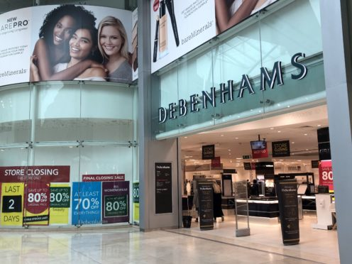 The Debenhams store in Basingstoke, Hampshire, is to shut its doors for the final time on Saturday (Andrew Matthews/PA)