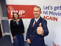 Democratic Unionist Party leader Edwin Poots and DUP deputy leader Paula Bradley (Kelvin Boyes/Press Eye)