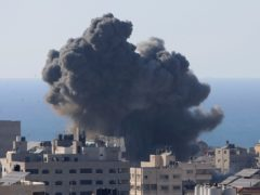Air strikes in Gaza (AP)