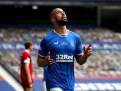 Kemar Roofe celebrates scoring Rangers' second goal (Andrew Mulligan/PA)