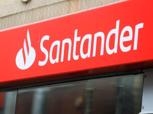 Santander has apologised for a 'technical problem' which saw people report they could not access the app or online banking (Mike Egerton/PA)