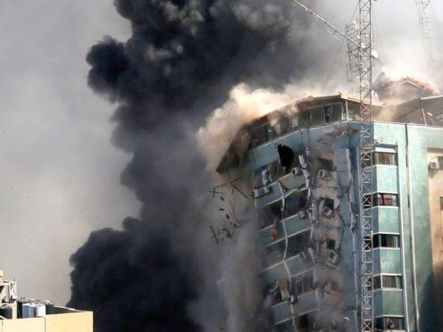 The building housed AP (Hatem Moussa/AP)