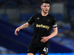 West Ham midfielder Declan Rice was left with mixed emotions after returning from injury in Saturday's 1-1 draw at Brighton (Neil Hall/PA)