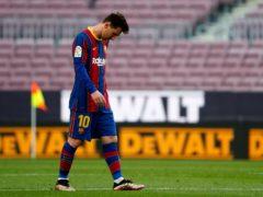 Barcelona's Lionel Messi faces a decision over his future (Joan Monfort/AP).