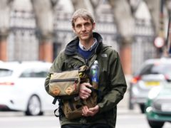 Television presenter Jeremy Stansfield leaving the Royal Courts of Justice, London, on Monday. He wants damages from the BBC after getting hurt while working on a science programme, Bang Goes The Theory, in February 2013 (Yui Mok/PA)