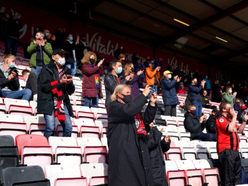 Fans returned to football at Bournemouth (Adam Davy/PA)
